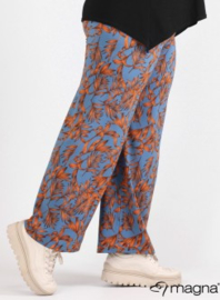Broek Basic (D-0003-print) Z68028-Tropical Blue-Rust