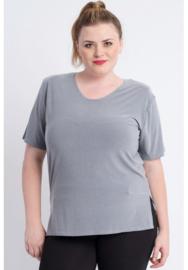 Shirt korte mouw (B-04) 053-Gem.Grijs
