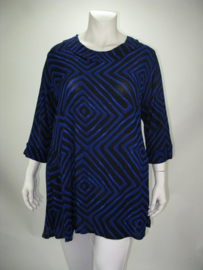 Tuniek Hailey  (07-4421) blueblackzigzag