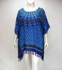 Saron Blouse (08-3252-peacock bluetone)
