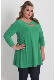 Shirt open neklijn  (B-8020) 058-Brazil Groen