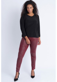 Legging Leather Look (F-23 LL) 032-Bordeaux