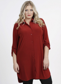Tuniek-Blouse/knopen (C-7005) 028-Roest