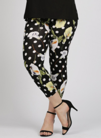 Legging Basic (F-0031-VISPR) - A54001-Dot and flower