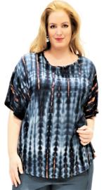 """Shirt """"JOYCE"""" (14-4636) blackdblueikat"""