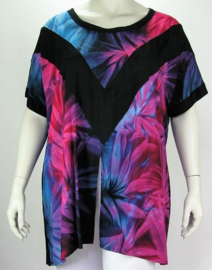 "Shirt ""INSANE"" (02-3843) pinkbluesin"
