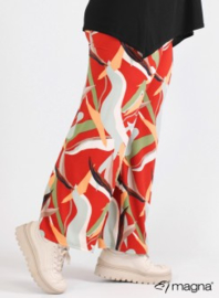 Broek Basic (D-0003-print) Z67015-Art Canvas Red