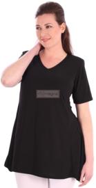 Tuniek Basic Belle (C-298) 001-zwart