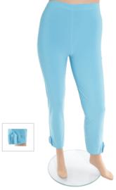 Legging met omslag en knoop (F-03) 011-Turquoise