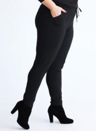 Broek zakken en smalle pijpen (D-8006) 001-Zwart