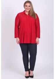Shirt A-lijn met kant (B-8026) 015-Rood