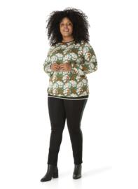 """(40200P) """"Queeny"""" Shirt met lange mouw Floral Print"""