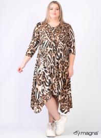 A-lijn jurk met knopen (C-2102-PR) B-01064-Tiger Brown