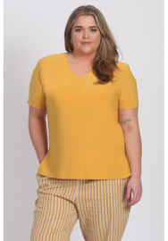 Shirt korte mouw (B-04) 076-Mellow Yellow