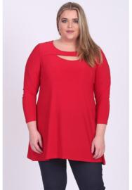 Shirt open neklijn  (B-8020) 015-Rood
