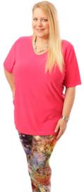 Shirt korte mouw (B-04) 006-L.Fuchsia