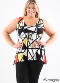 A-Top (A26-print) - Z52015-Geo Design red-yellow-green