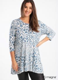Lange basic shirt (B-6004-BVISPR) 00003B-Leopards Spots Sky Blue