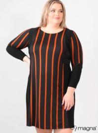Stripe Design Tunic (C-2027-PR) 048063-WIde Lines Rust