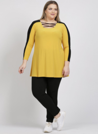 Shirt open neklijn  (B-8024) 076-Mellow Yellow