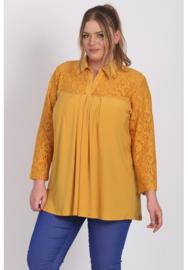 Shirt A-lijn met kant (B-8026) 076-Mellow Yellow