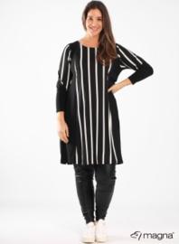 Stripe Design Tunic (C-2027-PR) 048001-Wide Lines BW