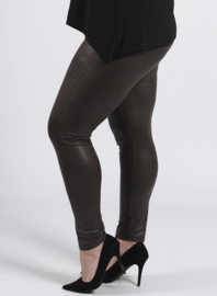 Legging Leather Look (F-20 LL) 031-Khaki
