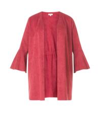 (30777p) Rood Lang vest met wijde mouwen