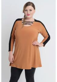 Shirt open neklijn  (B-8024) 065-Oker
