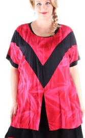 "Shirt ""INSANE"" (01-3842) pinkredsin"