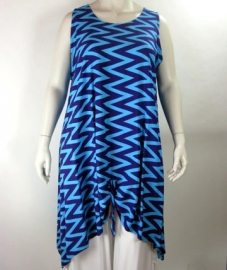 Tuniek Maxi XL (06-2443 - bluezigzag)