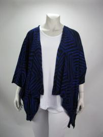 Jacket Hazel (04-3734-blueblackzigzag)