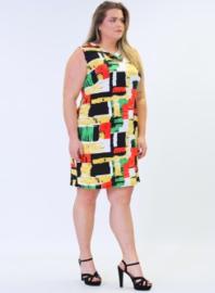 Crossed Detail Dress (C-9030-print) 851057-Multicolor print