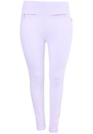 Legging van warme stof  (F-35) 002-Wit