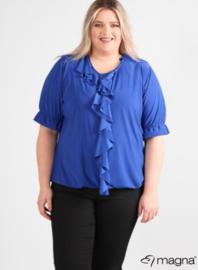 Shirt met rouche (B-2102) 060-Royal Blue