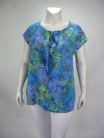 Shirt Hester (08-3712-blueyelleaf)