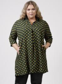 Tuniek met zakken (C-9003-LVIS-print) 918031-Khaki Dots