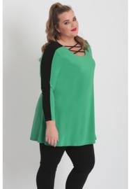 Shirt open neklijn  (B-8024) 058-Brazil Groen