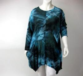 Tuniek Delphi (03-2226 - petrol-turquoise donker td)