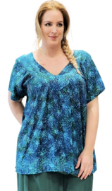 "Shirt ""JOSÉ"" (12-4620) bluegreensplash"