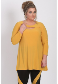 Shirt open neklijn  (B-8020) 076-Mellow Yellow