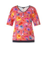 (30977P) Shirt korte mouw bloemen print