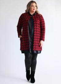 Blazer-vest Viscose print (N-5008) 984015 Big PP zwart-rood