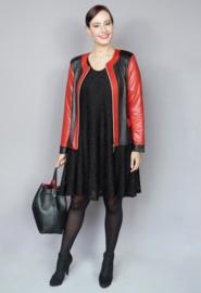 (k-31-2T-LL) Kort jasje 2 kleuren Leather Look