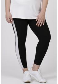 Legging Streep (F-9002) 001-zwart/002-wit