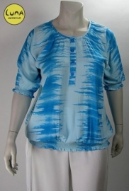 Blouse Chanti (01-1564-white-bluekras)