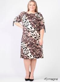 Cold Shoulder Leather Straps Dress (C-2101-VP) B01064-Tiger Brown
