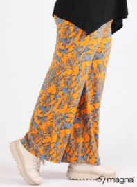 Broek Basic (D-0003-print) Z68019-Tropical Orange