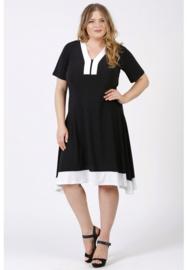 Tuniek/jurk 2t lang (C-9007) 001-002- Zwart-Wit