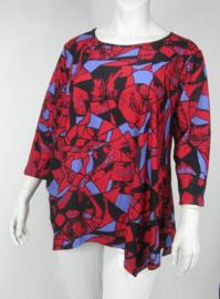 Shirt Gouda (04-3345-bleuredprint)